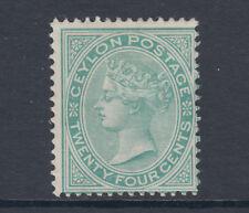 Ceylon SG 127, Sc 68 MLH. 1872 24c green QV, small HR, sound, fresh