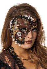 Halbe Steampunk Spitzen Maske NEU - Karneval Fasching Maske Gesicht