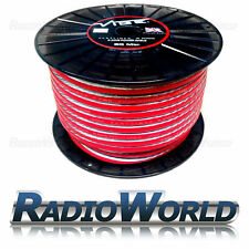 Vibe Flatlines AMPLIFICATORE 4AWG Cavo Alimentazione/Wire 4 Gauge AWG 1 M ROSSO/TRASPARENTE