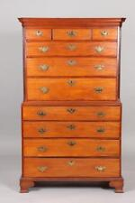 18TH/19TH CENTURY MAPLE CHEST ON CHEST WITH SECRETARY. 18th/19th Cent... Lot 728