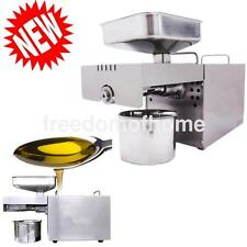 220/110vAutomatic Small Oil Press Machine Stainless Oil Mill Cold Hot Press
