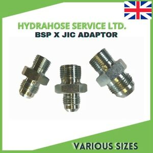 BSP to JIC Hydraulic Adapters all variations UK Manufacturer same day shipping