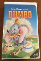 Disney's Dumbo Black Diamond VHS w/White Paper Label (The Classics,1998)