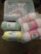 Red Heart Baby Clouds Yarn 9 balls at 170g  each pinks yellow green
