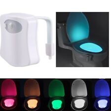 8 Colors Toilet Bathroom LED Night Light Sensor Motion Activated Seat Body Lamp