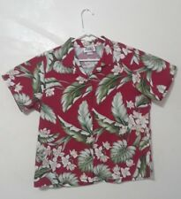 Red Hawaiian Shirt, Mens XL, Floral design Short Sleeve