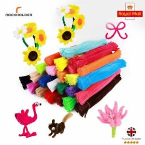 Children Pipe cleaners 100 Assorted Mix Chenille stems Sticks Puzzle Craft  UK