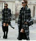 Zara lana larga cuadros abrigo talla S M REF. 2130 773