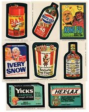 Wacky Packages 1974 Series 8 Complete set of 30 & puzzle set of 9