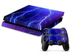 Sony PS4 Playstation 4 Skin Design Aufkleber Schutzfolie Set - Lightning Motiv