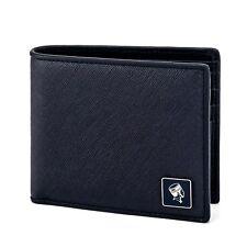 Blue Leather Bi-fold Wallet with ID Window 11344-00179 PORTER INTERNATIONAL