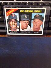 1966 Topps AL Pitching Leaders 224 Baseball Card