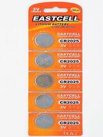 5 x CR2025 3V Lithium Batterie 150 mAh ( 1 Blistercard a 5 Batterien ) EASTCELL