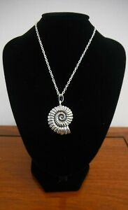 Ammonite Style Fossil Necklace Gift Boxed