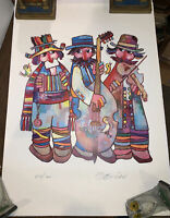 JOVAN OBICAN SIGNED, ART PRINT, 536 of 1000, THREE MUSICIANS, LITHOGRAPH