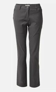 Craghoppers Kiwi Pro trs Womens Pants Walking-Graphite UK Size 10 regular eu36