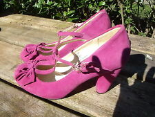 Suede Heels 1940s Vintage Shoes for Women