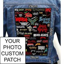 5pcs Indestructible Custom Personalized Embroidered Photo Print BACK Patch