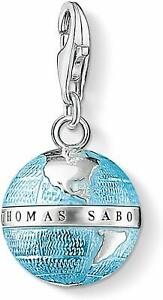 Thomas Sabo Damen-Charm-Anhänger Weltkugel Charm Club 925 Sterling Silber