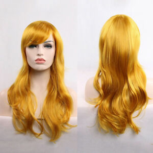 Unisex 70cm Long Wavy Curly Hair Synthetic Cosplay Wigs Party Heat Resistant New