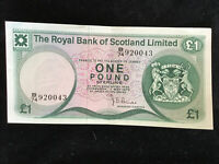 1978 Bank of Scotland One Pound Sterling Banknote B74 920043