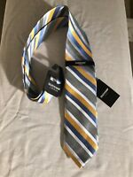 "Duchamp London Silk Tie, New Vivid Multi Color 3.1""x58"""