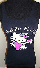 Sanrio Hello Kitty Black Pajamas Sleep PJ Camisole Tank Size Small 3-5 Jrs EUC