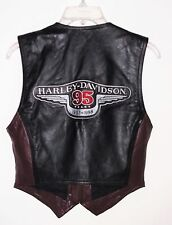 Harley Davidson 95 Years Leather Vest Anniversary 1903-1998 Women Size M