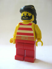 Lego PIRATE Crew Minifigure -Red/White Shirt Black Bandana -6286 6277 6270 6273