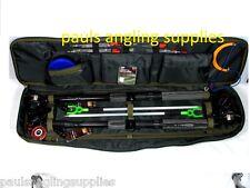 2 x 12 Ft Fishing Set Kit Rods + 2 x  Reels Tackle Bag Floats Shot Hooks Travel