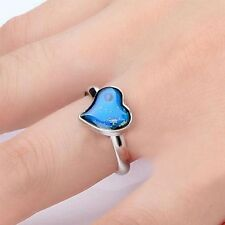 Adjustable Amazing Heart Shaped Temperature Feeling Mood Ring Changing Color