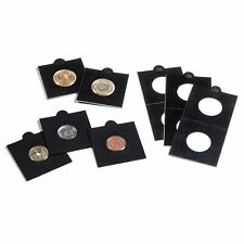 Etuis carton autocollants MATRIX, noir paquet de 25 pour pièces jusqu'à 37 mm