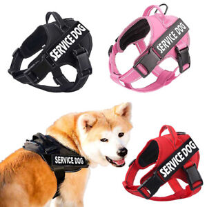 Pet Dog Harness Easy Adjust Outdoor With Handle No-pull Vest 2 Removable Patches