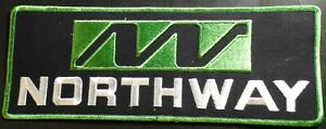 """LARGE VINTAGE NORTHWAY SNOWMOBILE BACK PATCH 12"""" X 5"""" SWEET MINT (525)"""