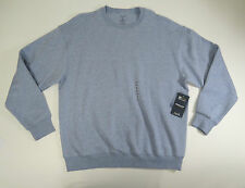 Roundtree & Yorke Sport Mens Blue Heather Crew Neck ProLuxe Fleece Sweater Sz L