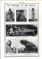 1910 Toad Rock Mount Abu Marco Polo God Hiran Minar Temple Lanterns Nara Japan