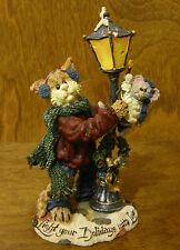 Boyds Purrstone #371018 MR FUZZYWIG and SPARKY...HOLIDAY GLOW, Christmas NIB CAT