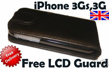Real Leather Case for Apple iPhone 3G FreeLCD Protector