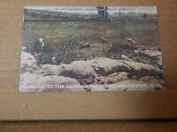 Postcard WW1 Battle series Crawling To The German Trenches  ,unposted