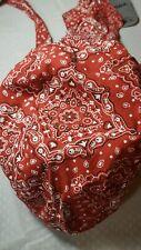 Red Paisley Pattern Motorcycle Biker Headwrap Skull Cap Doo Rag 100% Cotton NEW