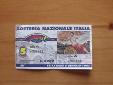BIGLIETTO LOTTERIA ITALIA 1997 abbinato a Carramba Che Sorpresa [AF20]