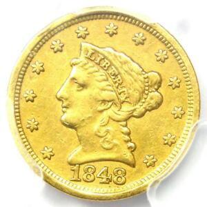 1848-D Liberty Gold Quarter Eagle $2.50 - PCGS XF Details - Rare Dahlonega Coin!