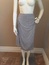 Splendid Heather Gray Rayon Ruched Waist Knee Length Skirt Sz S NWOT!