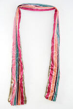 FAUX SILK LADIES STRIPED SOFT TOUCH LINED DESIGN SUMMER QUALITY SCARF  (MS5)