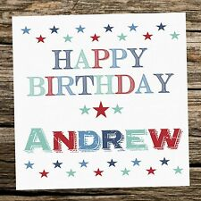 Stars Birthday Card - Personalised - Male/Man - Dad/Grandad/Uncle/Brother/Son