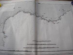 CARTE MEDITERRANEE côte française dressée en 1851 impression années 50