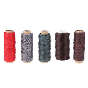 50m Waxed Cord Thread Wax DIY Bracelet Jewelry Linen Spool Leather Craft Sewing