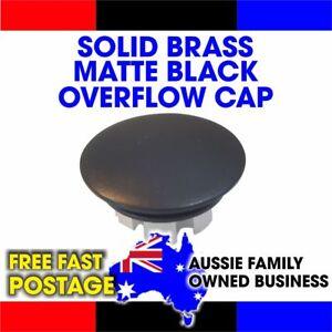 OVERFLOW BASIN SINK CAP COVER MATTE BLACK