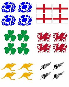 4 Face Temporary Tattoos for country support six nations,rugby, football,cricket
