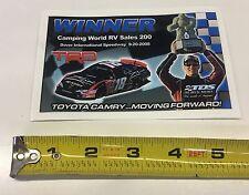 NASCAR JGR  Winner Decal #18 Kyle Busch Dover 2008 Camping World RV 200